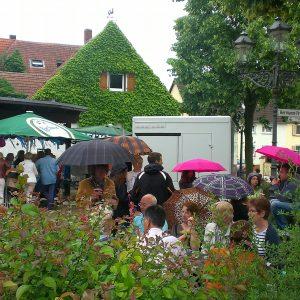 Wochenmarkt bei fast jedem Wetter, Foto KA