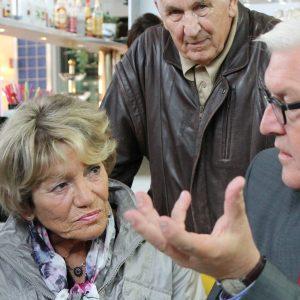 Frank-Walter Steinmeier bei seinem Besuch im Brunnencenter