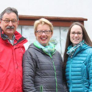 Dr. Bernd Hielscher, Annette Hielscher und Ricarda Grimm sind die gewählten Vertreter der SPD für den Ortsbeirat