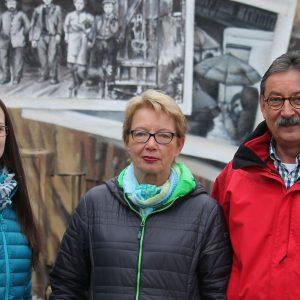 Die SPD Mitglieder des Massenheimer Orstbeirats, Ricarda Grimm, Annette Hielscher ubd Dr. Bernd Hielscher
