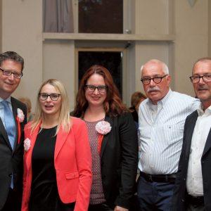 Gruppenbild mit Thorsten Schäfer-Gümbel, Natalie Pawlik, Lisa Gnadl, Jochen Brings und Horst Seißinger